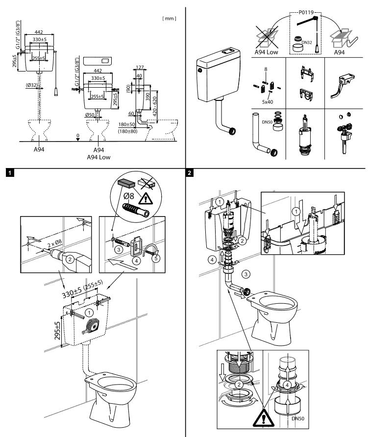 Sfaturi pentru montarea rezervorului WC