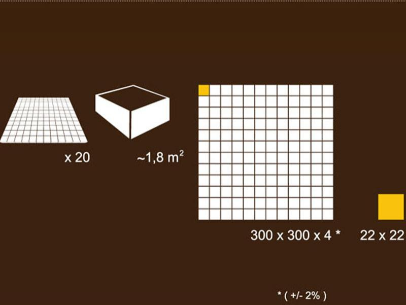 Detalii dimensiune placă mozaic