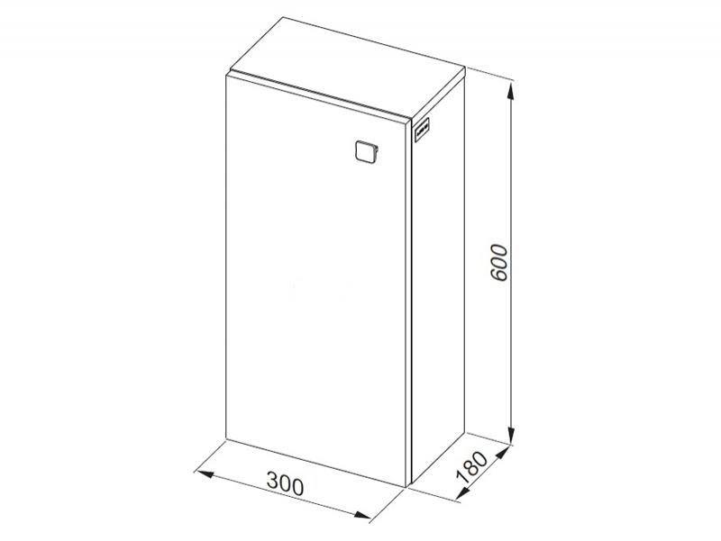 Desen tehnic, dulap suspendat, Flex, h.60 cm, alb