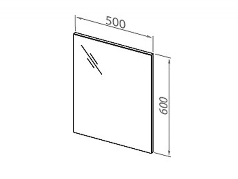 Desen tehnic, oglinda dreptunghiulara, Flex, 50 cm, alb