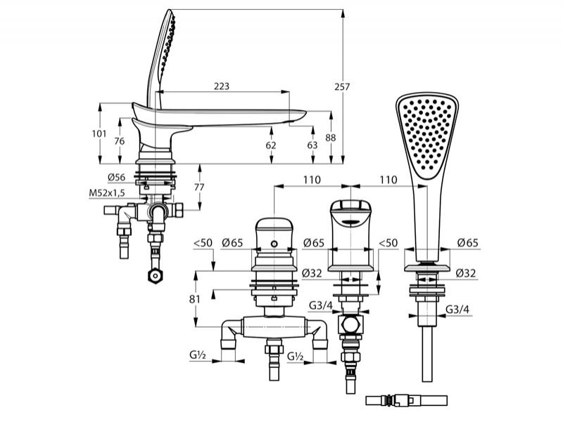 Desen tehnic, baterie cada-dus, AMBA
