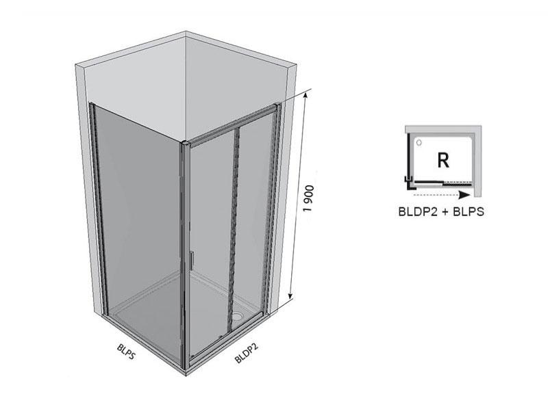 Desen tehnic usa de dus, BLIX BLDP2-100