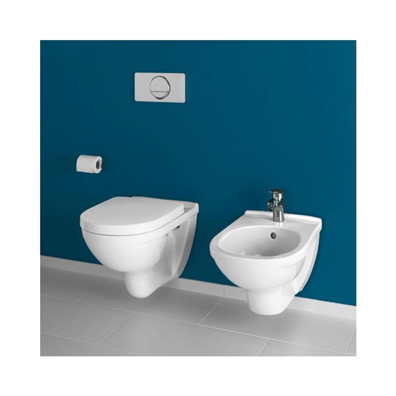 Set vas WC suspendat, cu capac soft close si quick release, alb, O.Novo