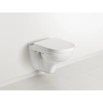 Foto cu set vas WC suspendat, cu capac soft close si quick release, alb, O.Novo
