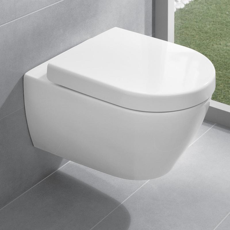 Set vas WC suspendat, direct flush + capac WC soft close, alb, Subway 2.0