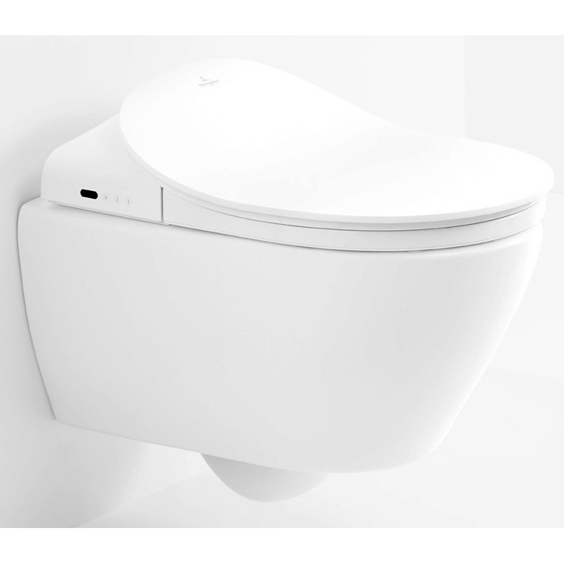Vas WC suspendat, direct flush, special pt utilizare impreuna cu capacul cu functie de bideu ViClean, alb alpin, Subway 2.0