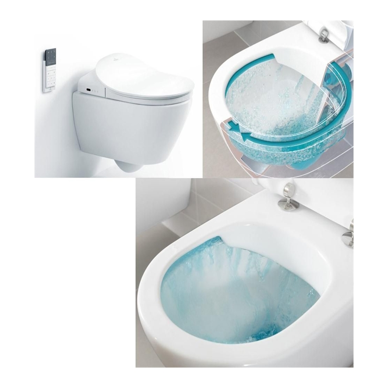 Vas WC suspendat, direct flush, doar pentru ViClean, alb alpin, Subway 2.0