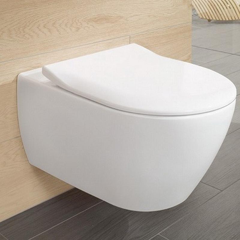 Vas WC suspendat, direct flush, alb alpin, Subway 2.0 cu capac slim