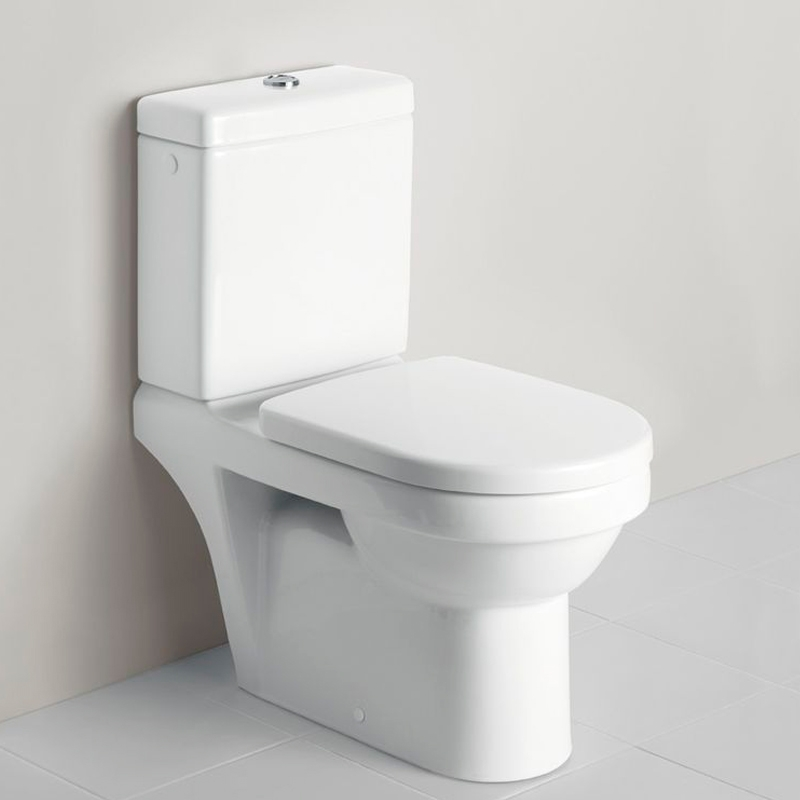 Vas WC rotund, stativ, compact, alb, Arhitectura