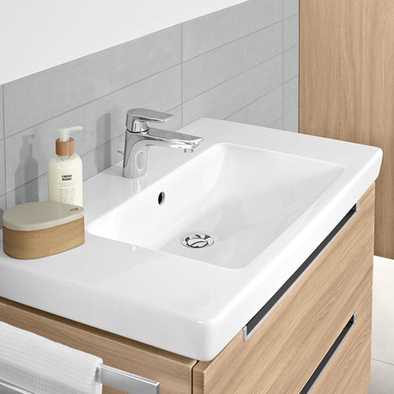 Lavoar pentru mobilier, 80 cm, alb alpin, Subway 2.0