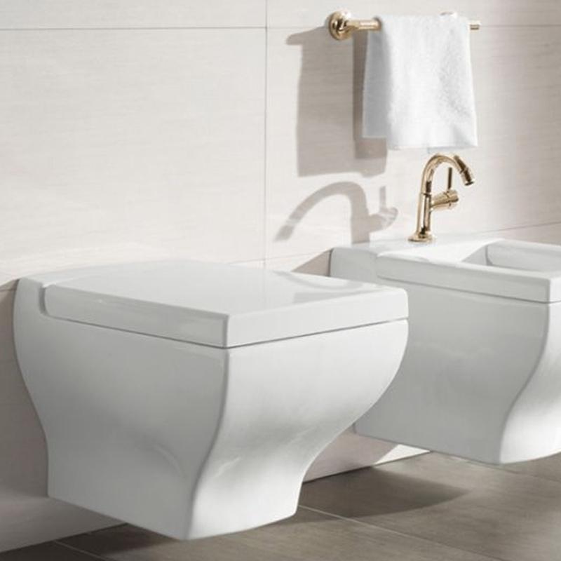 Vas WC dreptunghiular, suspendat, alb alpin, La Belle