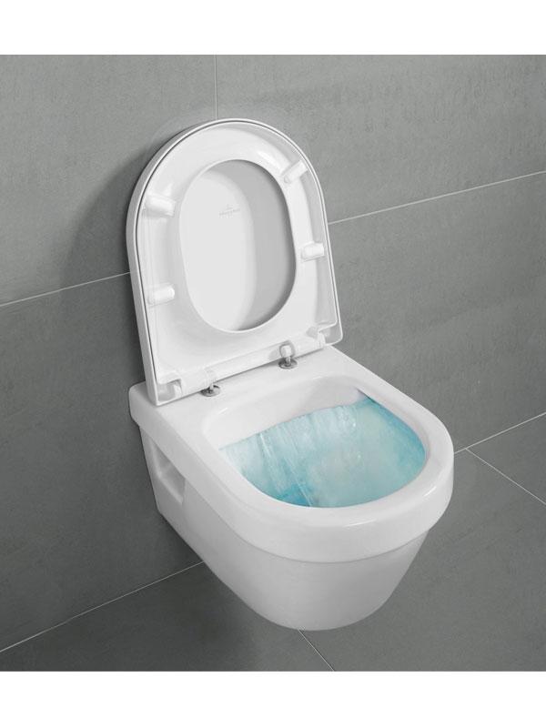 Vas WC rotund, suspendat, direct flush, alb, Architectura