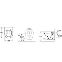 Vas WC rotund, suspendat, alb, Arhitectura