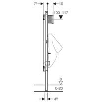 Rama Geberit, Duofix pentru pisoar, cu sistem de clatire cu senzor