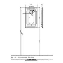 Oglinda cu imprimeu si iluminare LED, 50 x 85 cm, La Belle