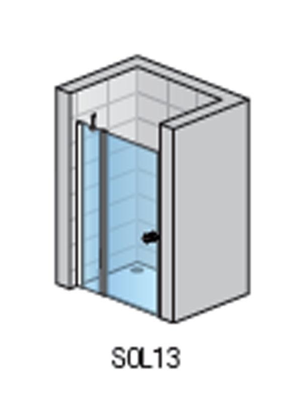 Desen tehnic, uşă cabină duş, SOL13