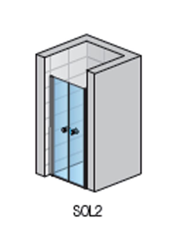 Desen tehnic Usa batanta din 2 elemente, profil lucios, 70 x 200 cm, Solino