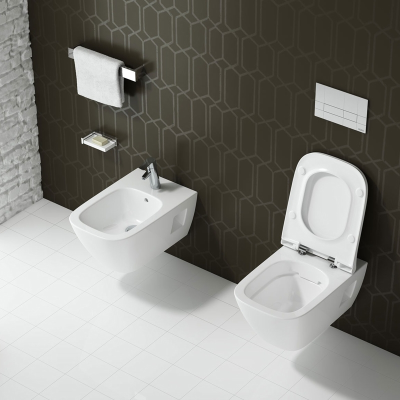 Vas WC suspendat Rimfree, alb, Modo