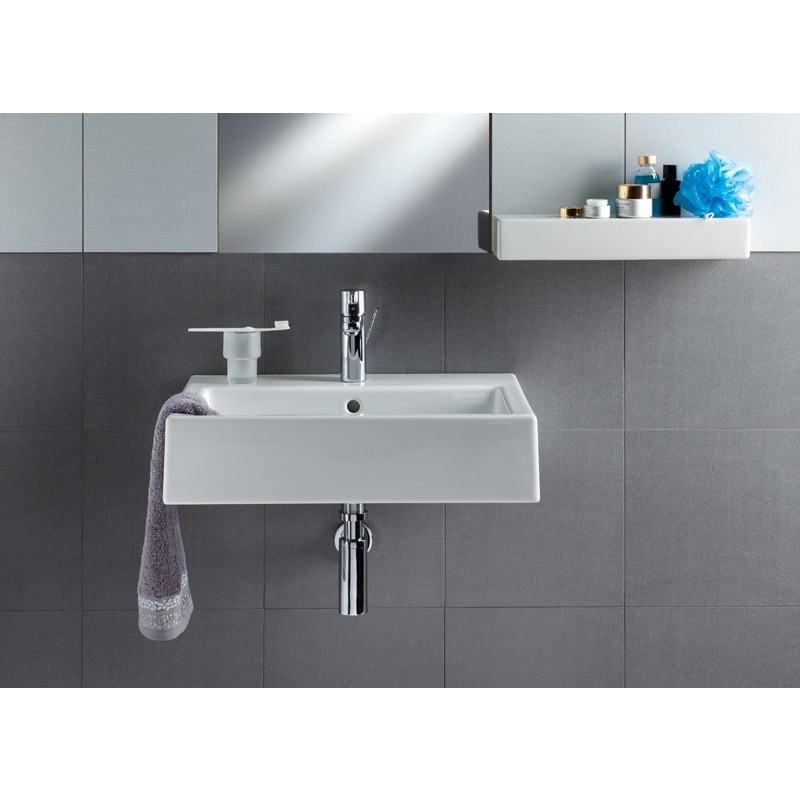 Lavoar cu bazin rectangular, alb, 60 x 46 cm, Twins