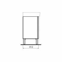 Set mobilier suspendat si lavoar Kolo Geberit Group, Rekord, 60 cm, alb