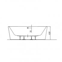 Cada de baie freestanding Kolpasan, Comodo, 185 cm, alb