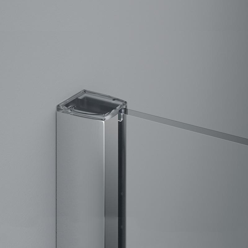 Paravan dus Sanswiss, Easy, profil crom lucios, 100 x 200 cm