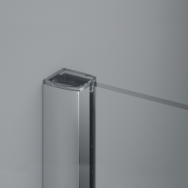 Paravan dus Sanswiss, Easy profil crom lucios, 120 x 200 cm, 6 mm grosime