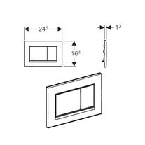 Design Tehnic clapeta cu actionare dubla Geberit, Sigma30, alb