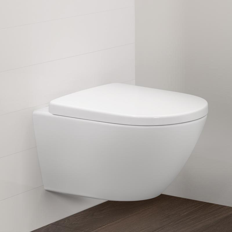 Vas WC suspendat XXL, alb alpin, Vivia