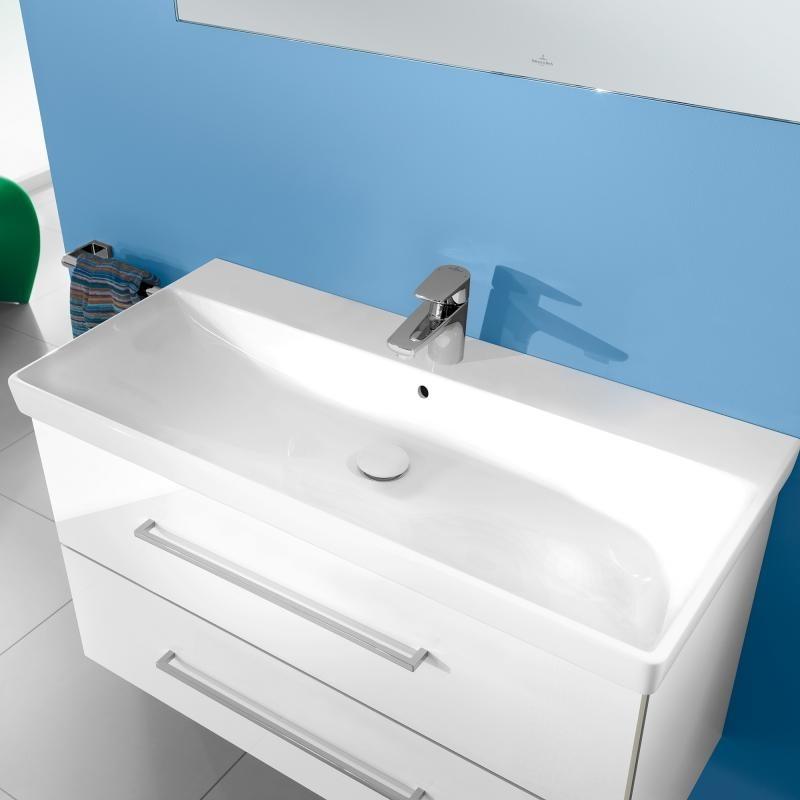 lavoar dreptunghiular 100 cm alb alpin avento de la. Black Bedroom Furniture Sets. Home Design Ideas