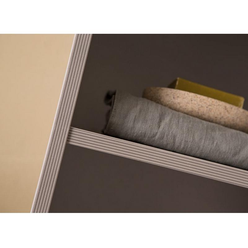 Dulap inalt suspendat, 156 x 40 cm, gri, Lana