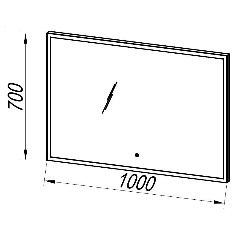 Oglinda cu iluminare integrata, 100 cm, Adele
