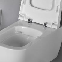 Capac vas WC Hatria, Next, soft close, alb