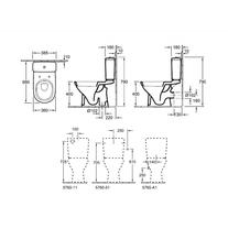 Vas WC stativ, direct flush + Rezervor + Capac WC soft close, alb, O.Novo