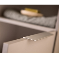 Mobilier pentru lavoar cu usa 80 cm, lemn deschis + Lavoar 80 cm, alb, Lana