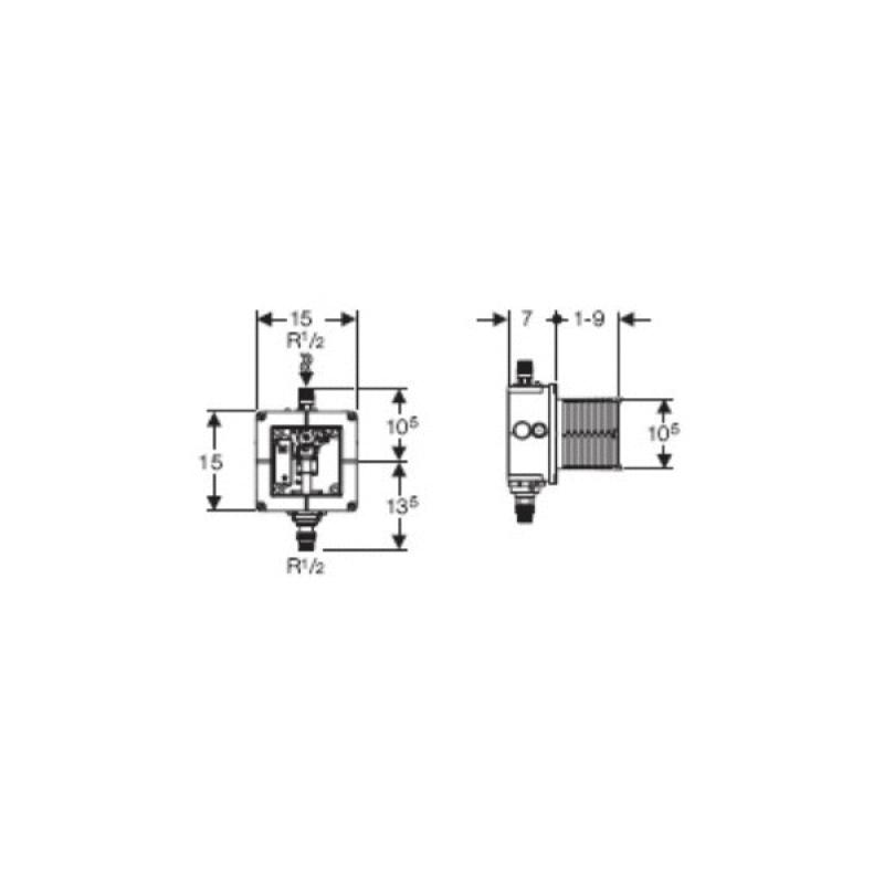 Dispozitiv optoelectronic pentru pisoar, universal, ascuns