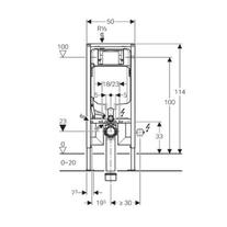 Rama Geberit, Duofix, pentru WC suspendat, 114 cm, cu rezervor incastrat Sigma 8 cm