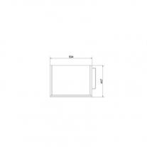 Mobilier Cersanit, Smart, suspendat, pentru lavoar, cu doua sertare, 60 cm, alb