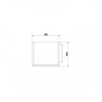 Mobilier Cersanit, Smart, suspendat, pentru lavoar, cu doua sertare, 50 cm, alb