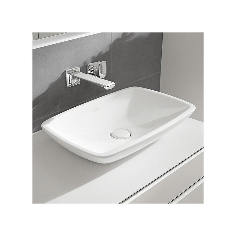 Lavoar pe blat, ceramic plus, 58 cm, alb, Loop & Friends