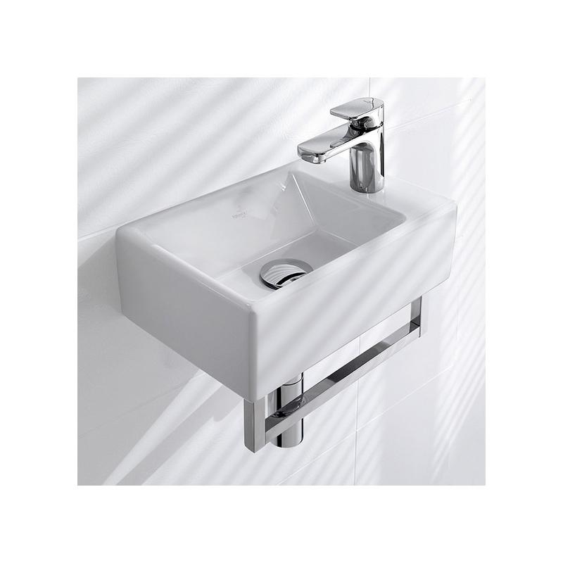 Lavoar dreptunghiular suspendat, 40 cm, alb, Memento