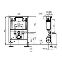 Rama si rezervor ingropat pentru vas WC suspendat, ViConnect