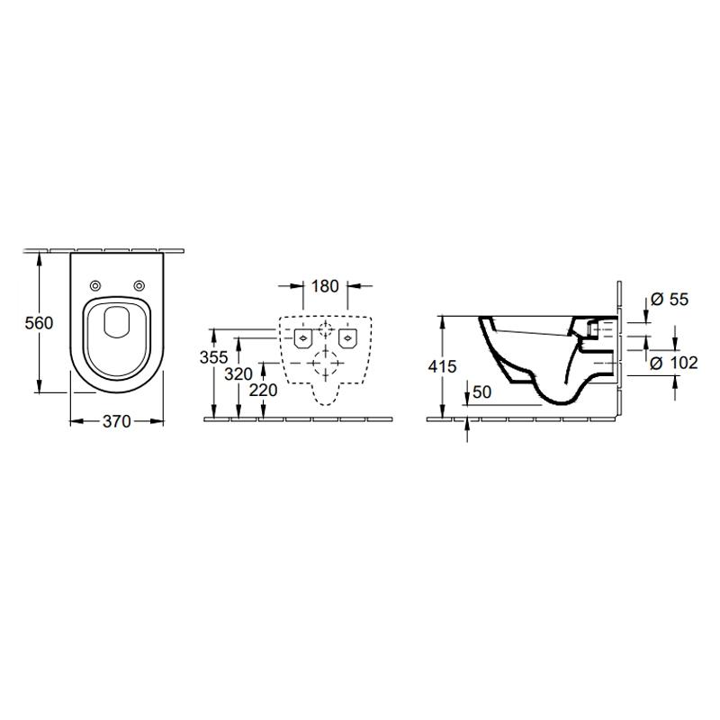 Set vas WC suspendat + capac WC soft close, alb, Subway 2.0
