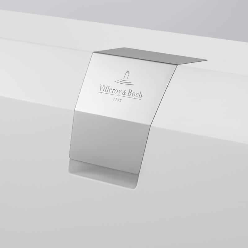 Cada dreptunghiulara, quaryl, 180 x 80 cm, alb, Squaro Edge 12
