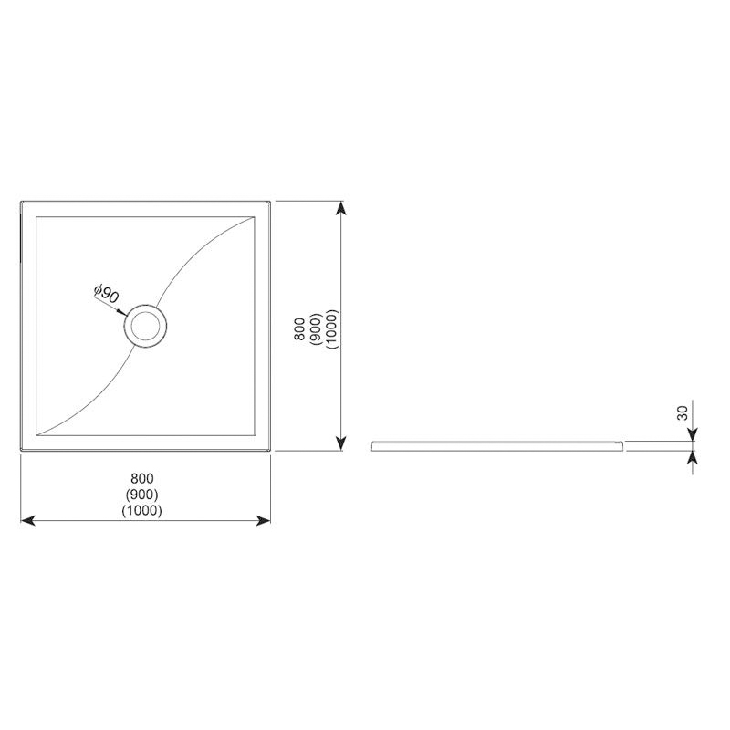 Cadita de dus patrata, 90x90 cm, schita