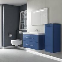 Mobilier suspendat, doua sertare, 76 cm, crystal blue, Avento
