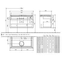 Mobilier suspendat pentru lavoar, 2 sertare, 100 cm, elm impresso, Legato