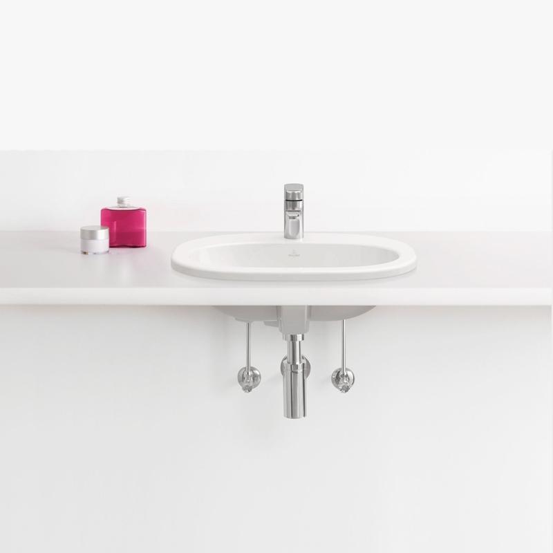 Lavoar incastrat Villeroy & Boch, O.Novo, oval, 56 cm, alb alpin