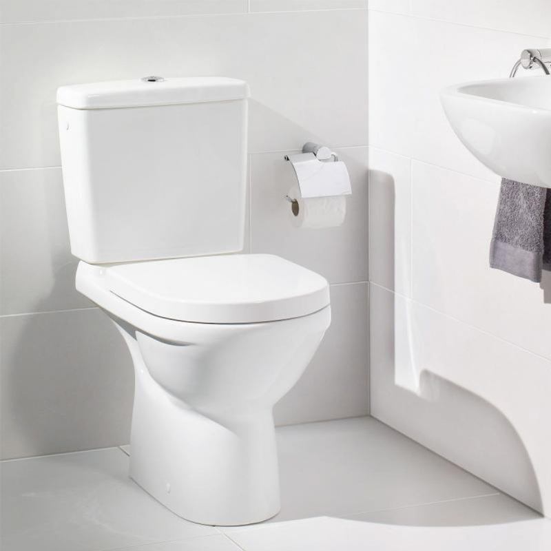 Vas WC monobloc, compact, alb, O.Novo