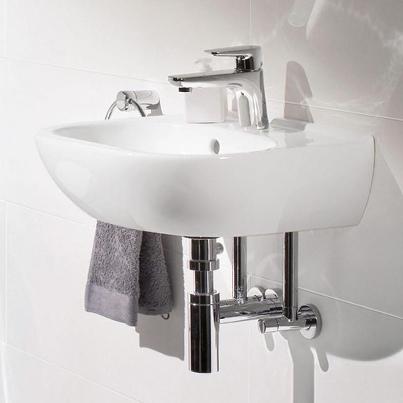 Lavoar suspendat, compact, 50 cm, alb alpin, O.Novo